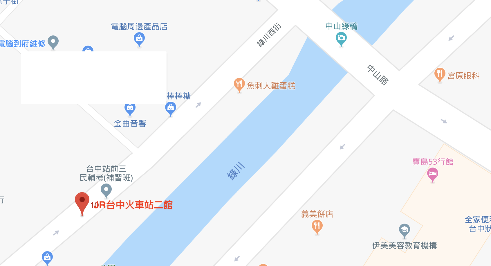 台中火車站85大樓教室租借/位置地圖
